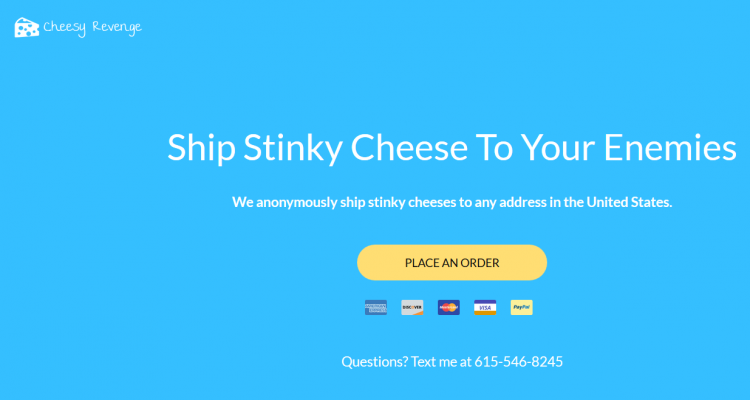 New Website Ships Stinky Cheese To Your Enemies Anonymously - #UD 2