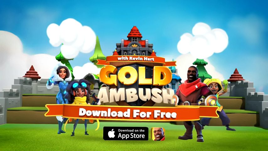 Kevin Hart Storms the Gates in New Mobile Game Gold Ambush - #UD 2